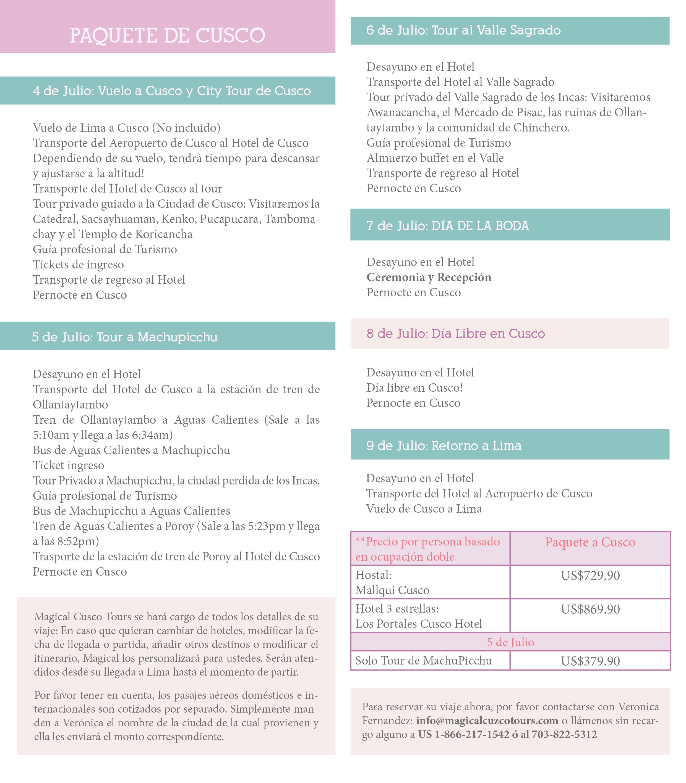itinerario español