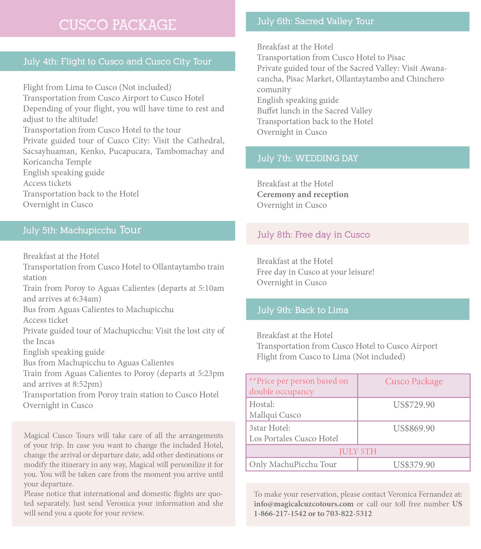 Itinerary inglés
