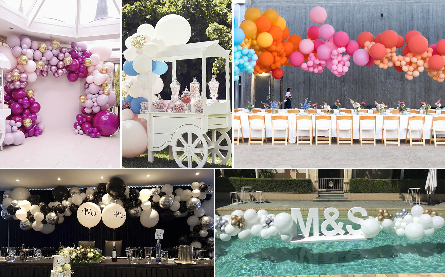 effect of balloons for weddings