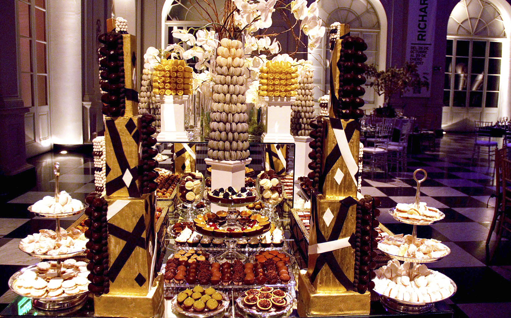 dessert table of chocolate