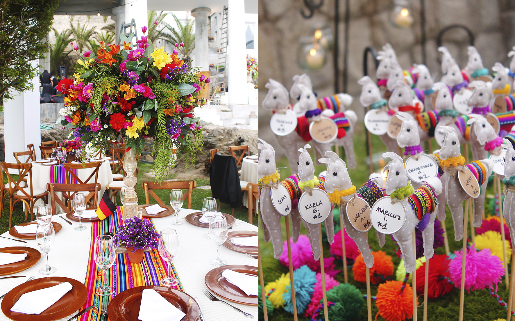 beautiful folklore decoration for wedding