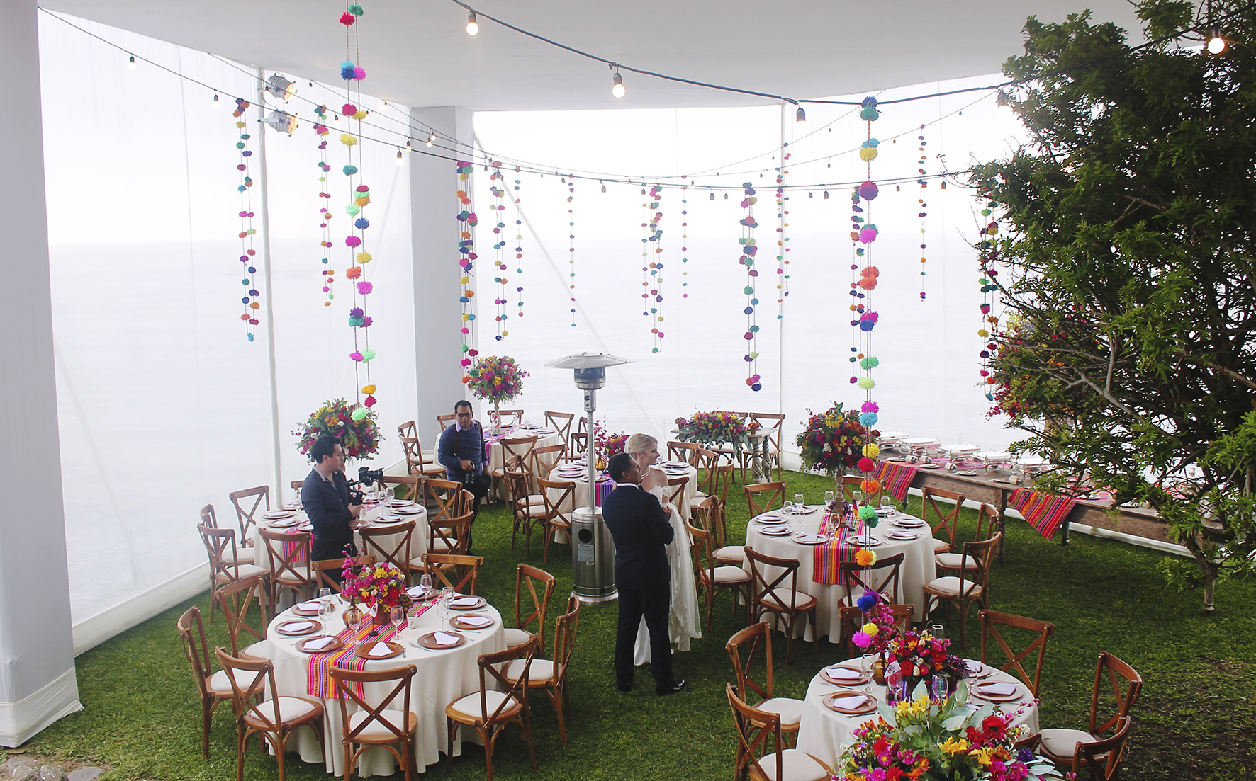 peruvian reception decoration with colourful style