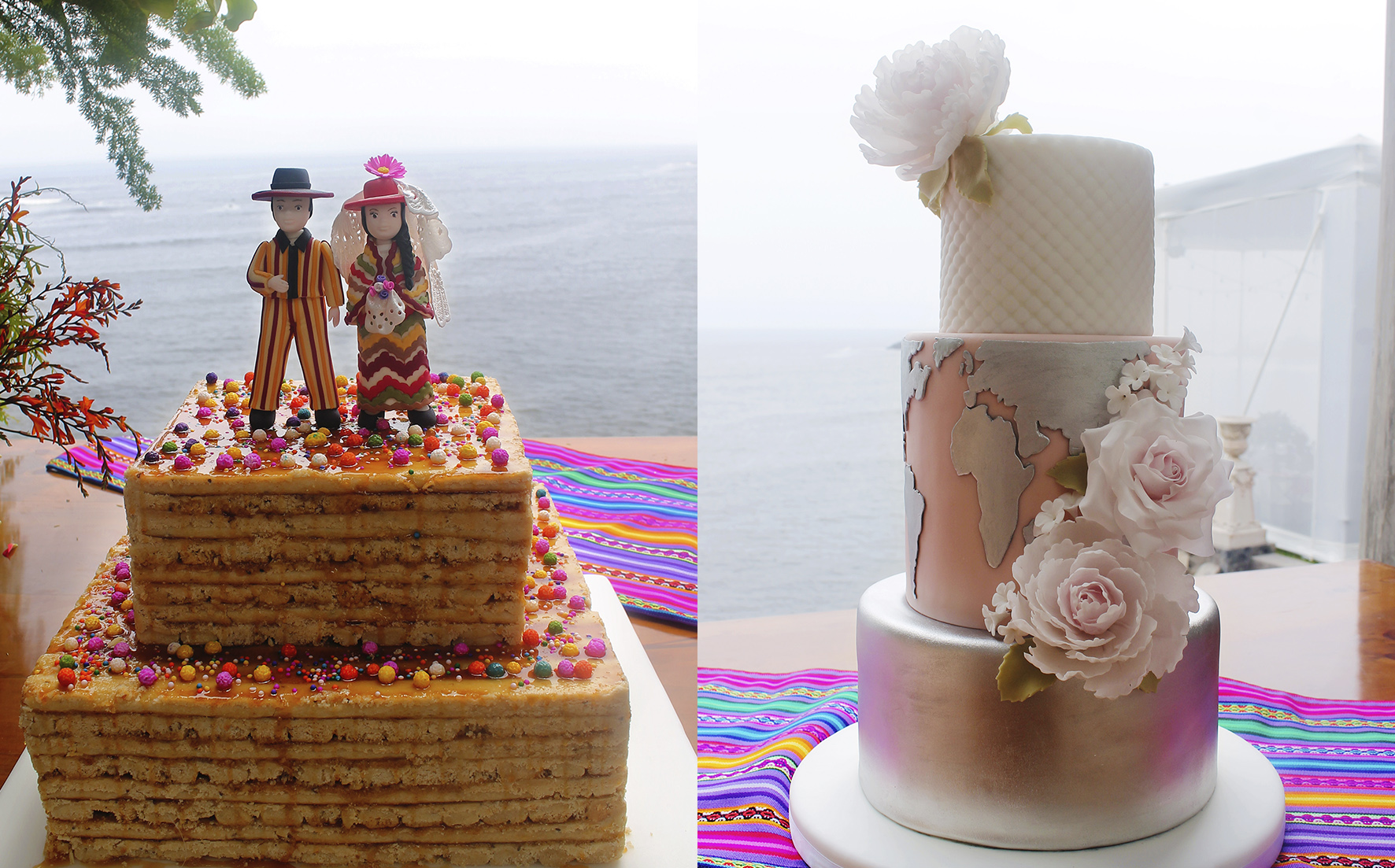 wedding cake based on turron and elegant world cake