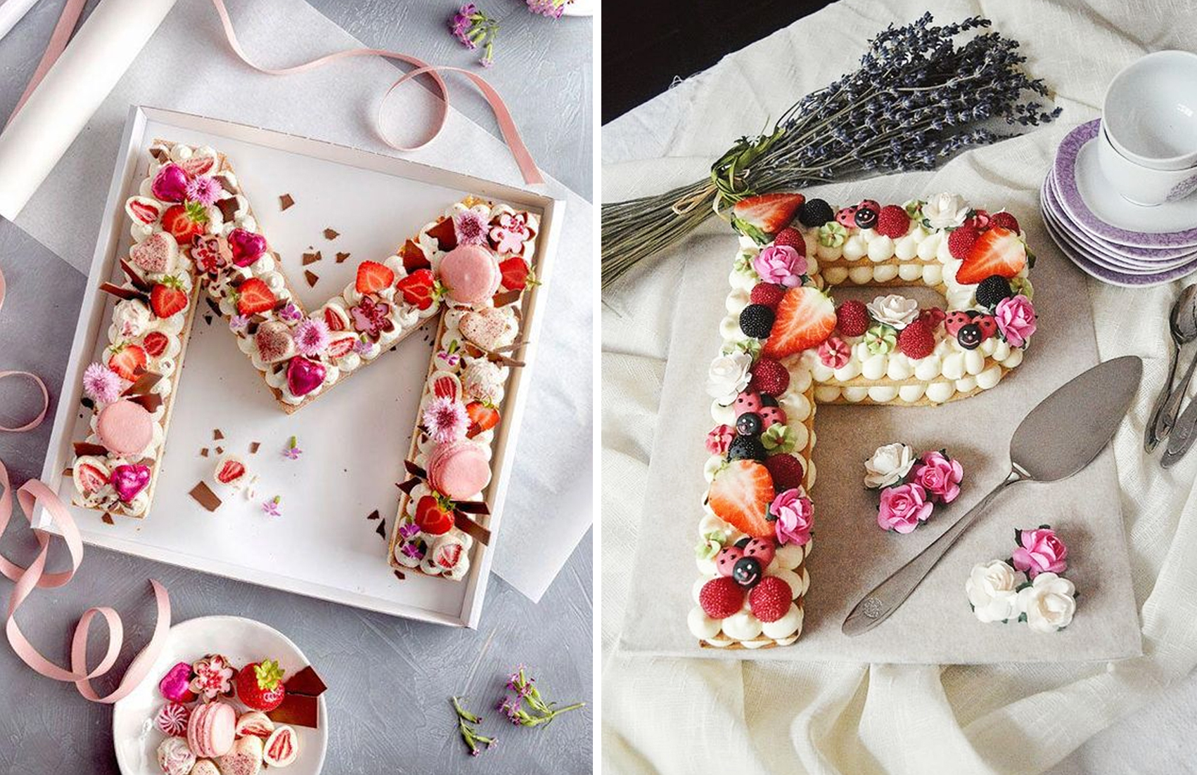 Letter cakes
