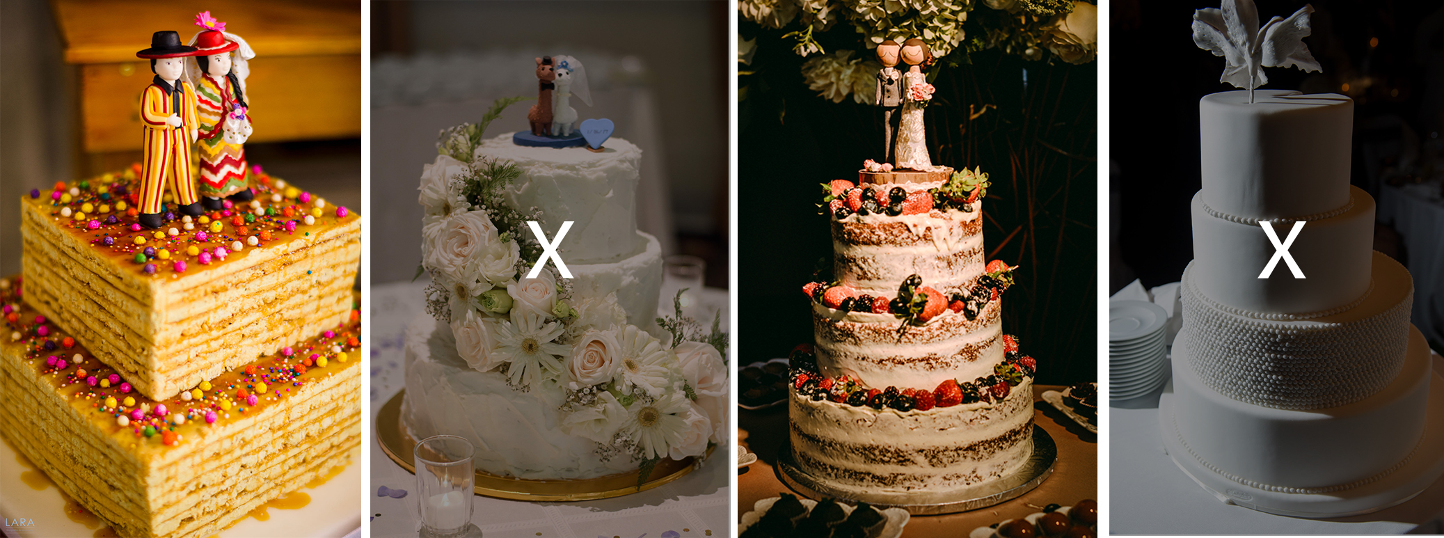 mood board wedding cakes