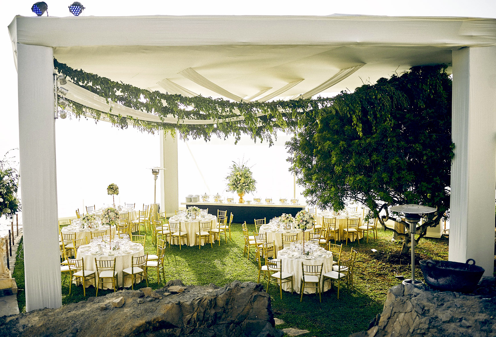 oceanfrony wedding reception catering