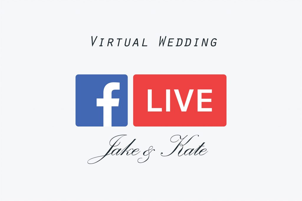 Wedding on fb live